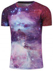 Crew Neck Short Sleeve Galaxy T-Shirt