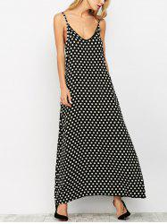 Polka Dot A-Line Maxi Dress