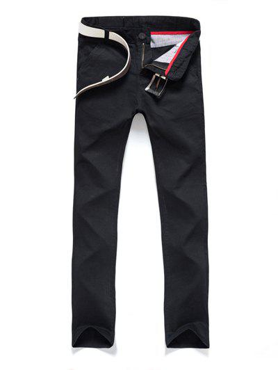 Discount Pocket Zipper Fly Straight Pants
