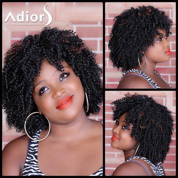 Shaggy Afro Curly Synthetic Stylish Medium Deep Brown Capless Wig For WomenHAIR<br><br>Color: RED MIXED BLACK; Type: Full Wigs; Cap Construction: Capless; Style: Curly; Material: Synthetic Hair; Bang Type: None; Length: Medium; Length Size(CM): 40; Weight: 0.271kg; Package Contents: 1 x Wig;