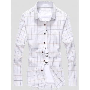Grid Button Down Shirt
