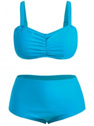 Plus Size High Waisted Bandeau Bikini Set