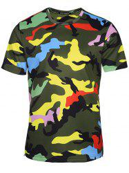 Crew Neck Camouflage T-Shirt