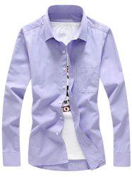 Chest Pocket Button Up Twill Shirt