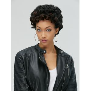 Adiors Pixie Ultrashort Fluffy Curly Synthetic Wig - BLACK