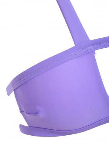 Affordable Strappy Cut Out Bikini - S PURPLE Mobile