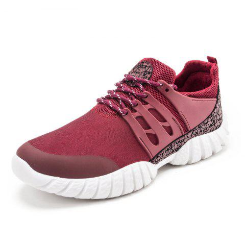 Buy Color Block Suede Sport Shoes - Red 41