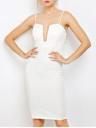 Bodycon Cami Party Fitted Knee Length Club Dress