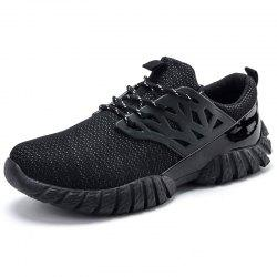 High Elastic Mesh Sneakers - BLACK