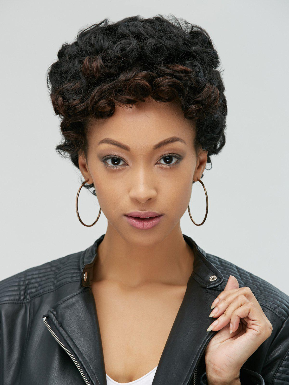 Image of Adiors Pixie Ultrashort Fluffy Curly Synthetic Wig