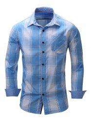 Long Sleeve Check Shirt with Pocket