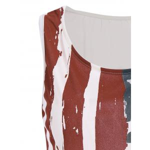 Patriotic USA Flag Print Tank Top - COLORMIX S