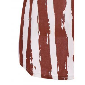 Patriotic USA Flag Print Tank Top - COLORMIX L