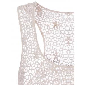 Crochet Floral Lace Tank Top - OFF-WHITE ONE SIZE(FIT SIZE XS TO M)