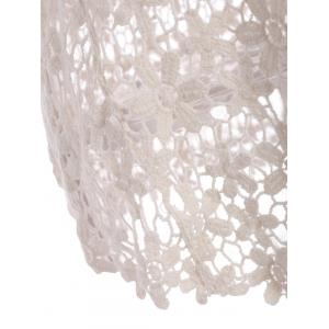 Sweet U-Neck Sleeveless Solid Color Hollow Out Lace Tank Top For Women - OFF WHITE ONE SIZE(FIT SIZE XS TO M)