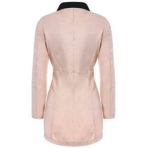 Ladylike Style Long Sleeves Irregular Solid Color Single-Breasted Women's Coat -