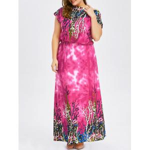 Bohemian Plus Size Long Printed Maxi Dress