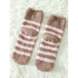 Coral Fleece Cartoon Teeth Rat Socks -