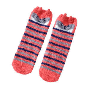 Coral Fleece Cartoon Owl Socks -