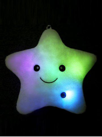 Fashion Star Shape Variable Color Luminescence Pillow - WHITE  Mobile