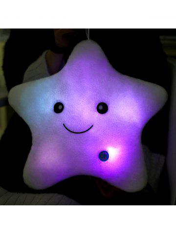 Sale Star Shape Variable Color Luminescence Pillow - WHITE  Mobile