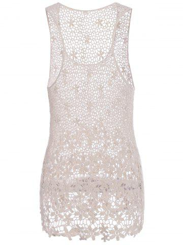Shops Crochet Floral Lace Tank Top - ONE SIZE(FIT SIZE XS TO M) OFF-WHITE Mobile