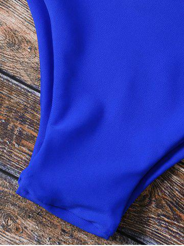 Affordable Spaghetti Strap Hollow Out Padded Bikini - S BLUE Mobile