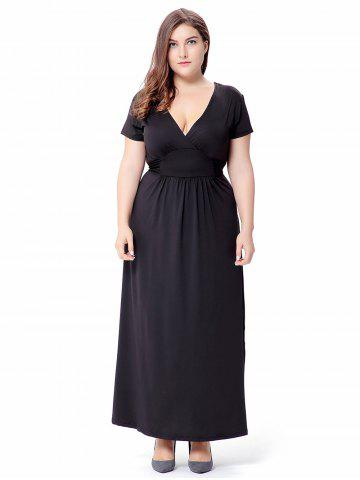 Ruched Empire Waist Maxi Dress