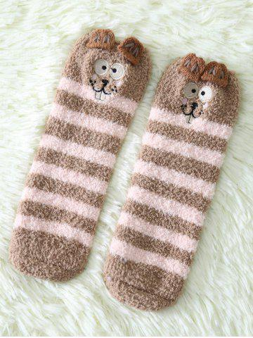 Fancy Coral Fleece Cartoon Teeth Rat Socks
