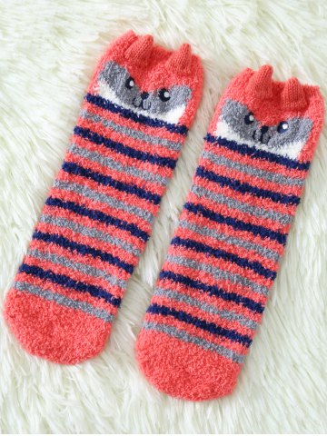Store Coral Fleece Cartoon Owl Socks