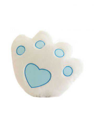 Sale Bear Paw Shape Variable Color Luminescence Pillow - WHITE  Mobile