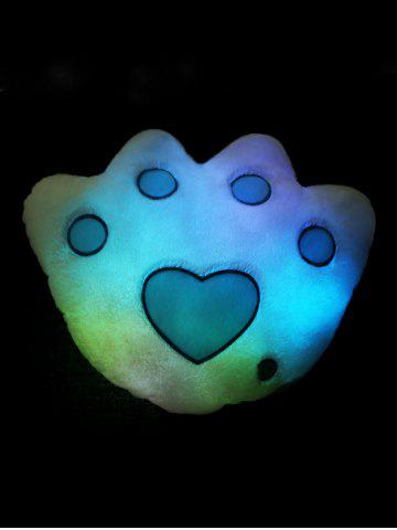 Buy Bear Paw Shape Variable Color Luminescence Pillow - WHITE  Mobile