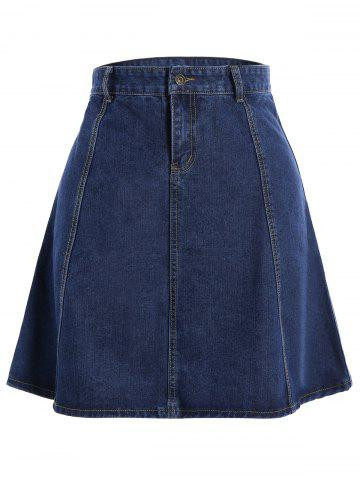 Discount Knee Length Jean Skirt