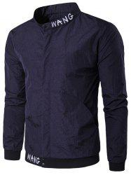 Pocket Snap bouton Veste brodée - Cadetblue 2XL