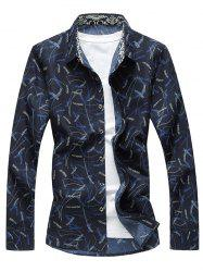 Plant Print Long Sleeve Shirt