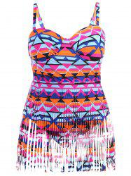 Plus Size Cut Out Fringed Swimwear
