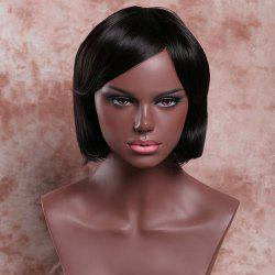 Short Side Bang Straight Deep Brown Women's Ladylike Synthetic Hair Wig