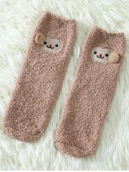 Coral Fleece Cartoon Monkey Socks