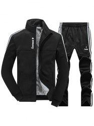 Zip Up Stripe Flocking Jacket Twinset