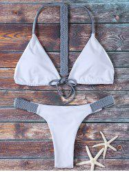 Halter Reversible Thongs Bikini Swimsuit