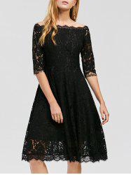 Off The Shoulder Lace Prom Dress