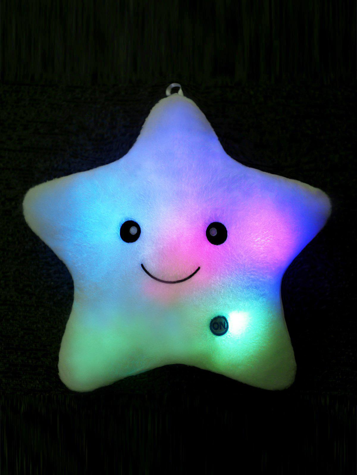Star Shape Variable Color Luminescence PillowHOME<br><br>Color: LIGHT BLUE; Type: Decorative Pillows; Materials: Polyester / Cotton; Shape: Star; Size(CM): 35*35CM; Package Size ( L x W x H ): 30.00 x 30.00 x 4.00 cm / 11.81 x 11.81 x 1.57 inches; Weight: 0.720kg; Package Contents: 1 x Pillow;