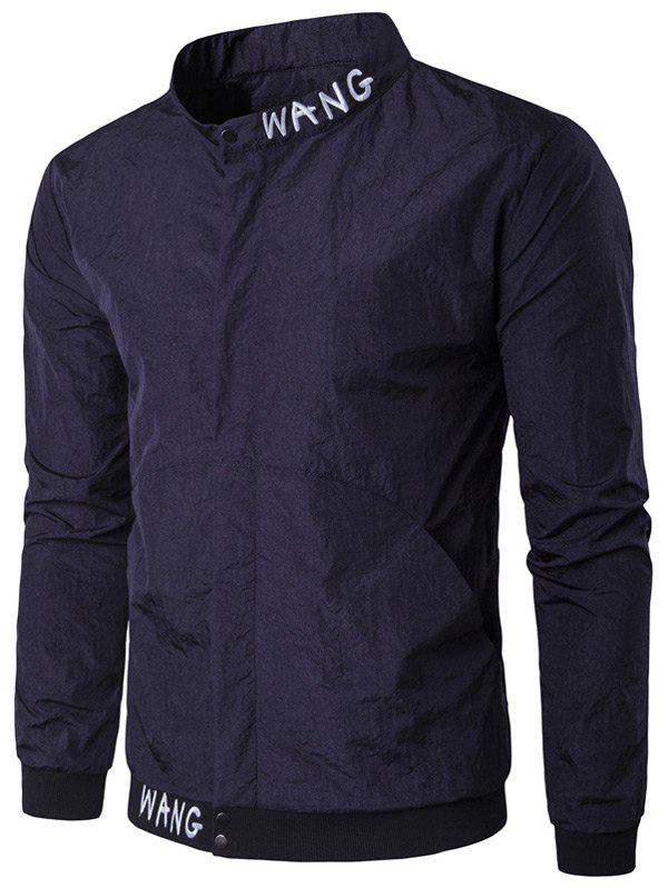 Pocket Snap bouton Veste brodée Cadetblue 2XL