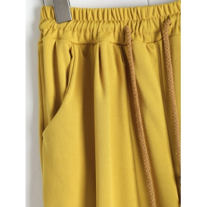 Elastic Waist Palazzo Pants with Pockets - GINGER 4XL