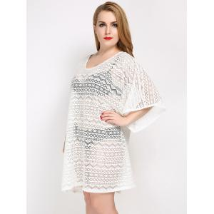 Плюс размер бикини Set С Мундир Backless Cover Up -