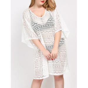 Plus Size Backless Cover Up Dress