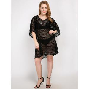 Plus Size Backless Cover Up Dress -
