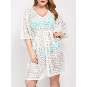 Plus Size V Neck Tunic Dress Cover Up