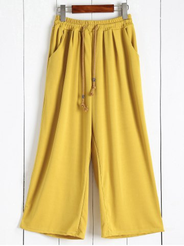 Buy Elastic Waist Palazzo Pants with Pockets GINGER 5XL