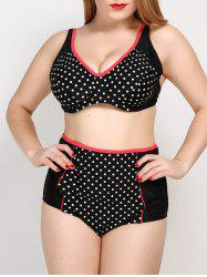 Polka Dot Cute Plus Size Bathing Suit -